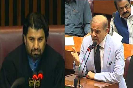 NA session marred by Treasury's protest during Shehbaz's address