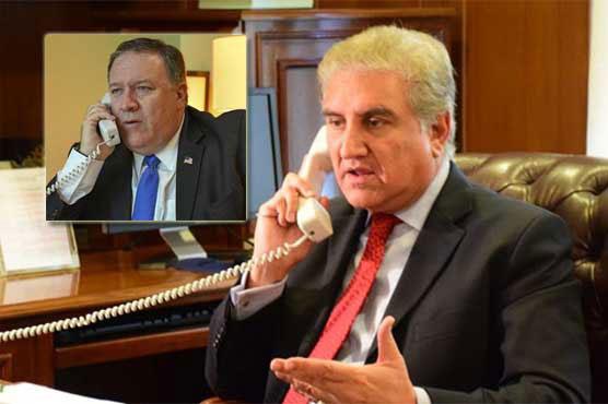 FM Qureshi phones Mike Pompeo, discusses regional security matters