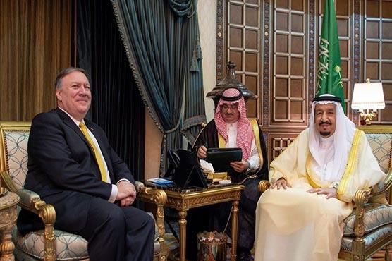 Pompeo meets Saudi king for Iran crisis talks