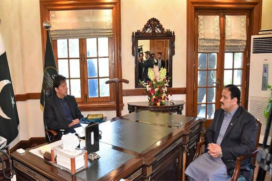 PM Khan discusses provincial matters with Punjab CM, Governor in Lahore