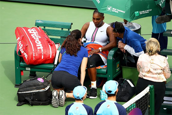 Serena Williams retires through injury against Muguruza