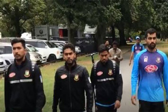 Bangladesh's cricket team escaped unscathed after a shooting at a mosque in central Christchurch