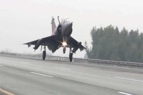 PAF displays successful landing of fighter jets on motorway
