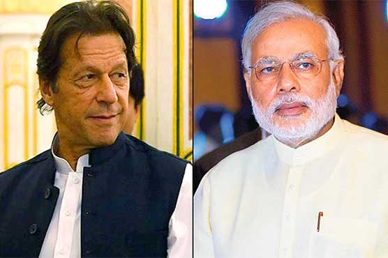 Indian PM Modi greets Pakistani PM Imran Khan on Pakistan's National Day