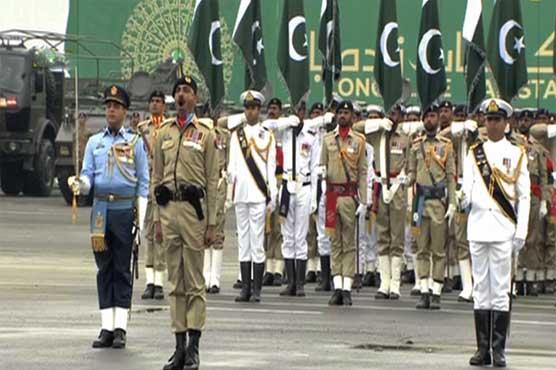 483675 45298750 - یوم پاکستان: مسلح افواج کی مشترکہ پریڈ، مہاتیر، صدر، وزیراعظم کی