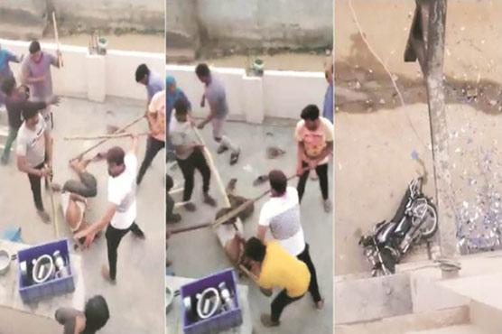 Hindu fascists beat Muslim family on Holi