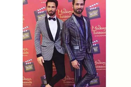 Shahid Kapoor unveils his Madame Tussau wax statue in Singapore