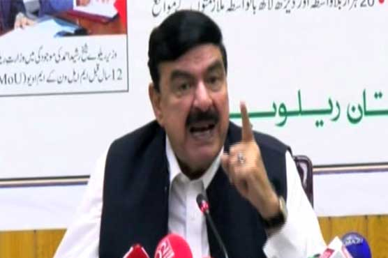 Sheikh Rasheed lashed out at former rulers for economic crisis