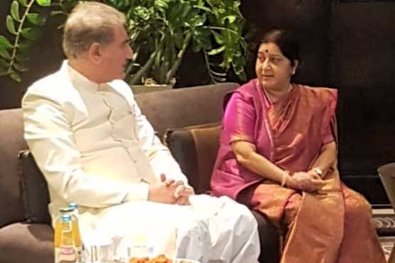 FM Qureshi, Sushma Swaraj meet informally at SCO meeting