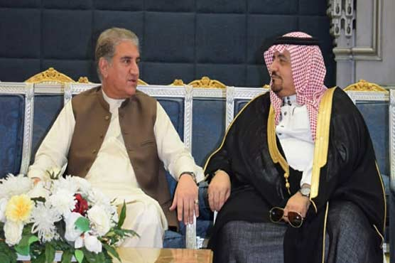 Shah Mehmood Qureshi arrives in Saudi Arabia to attend OIC summit