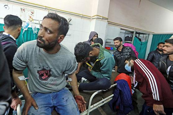 One dead, 34 injured in grenade blast in Srinagar