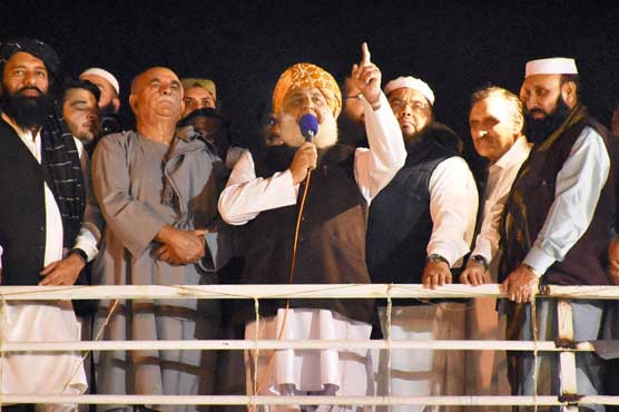 Govt committee should bring PM's resignation before coming for talks: Fazlur Rehman