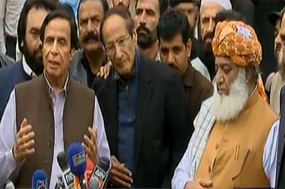 Chaudhry Brothers meet Fazlur Rehman, discuss resolving matters peacefully