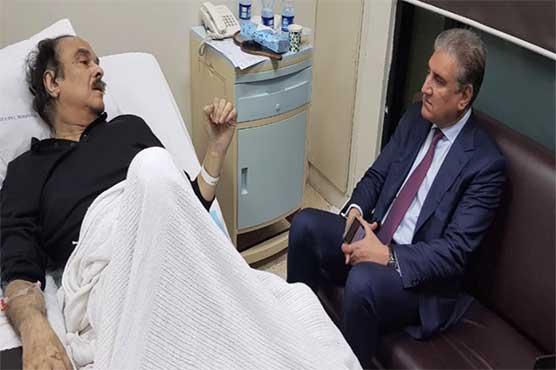 FM Qureshi visits ailing Naeemul Haque to inquire after health