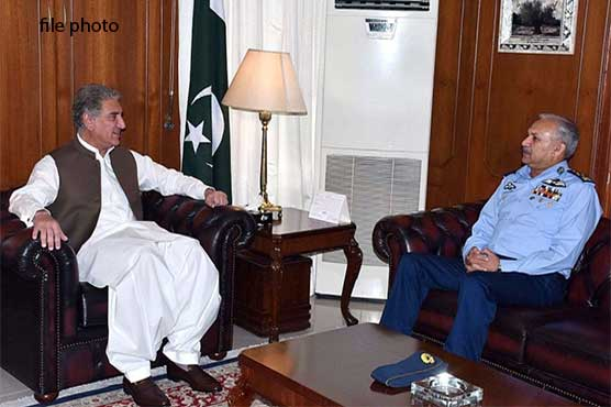 FM Qureshi, Air Chief laud PAF's resolve and professional expertise