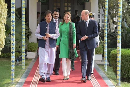 In Pictures: Pakistan blooms as Prince William and Kate meet PM Imran Khan