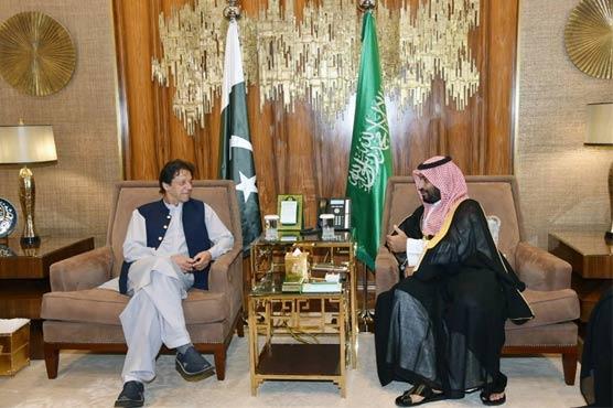 PM Imran meets Saudi King Salman, crown prince to discuss matters of mutual interest