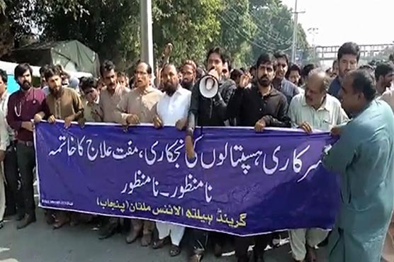 Patients suffer as doctors stage protest across Punjab