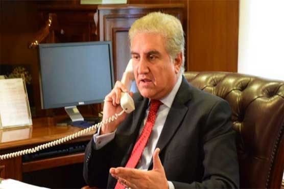 FM Qureshi telephones Turkish, Iranian and Bangladeshi counterparts, apprised them on Kashmir issue
