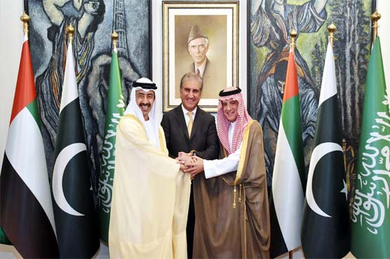 Indian move to abrogate Article 370 is a violation of UN resolutions, FM Qureshi tells Saudi, UAE counterparts