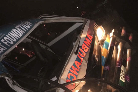 Two killed in ambulance, motorcycle collision in Gujrat