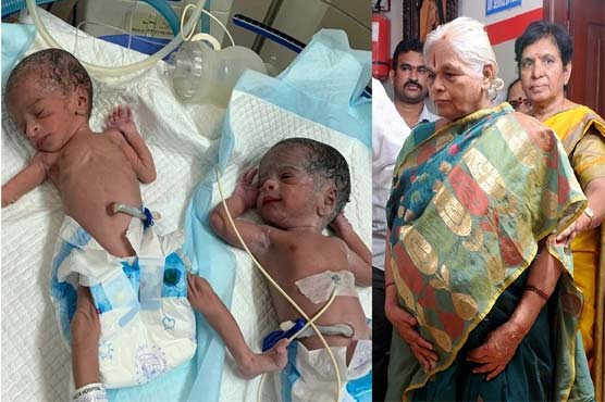73-year-old Indian woman gives birth to twin girls - World