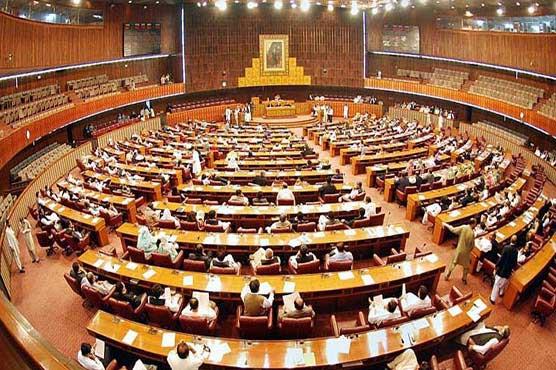 Pandemonium in NA as Speaker denies Ahsan Iqbal speech
