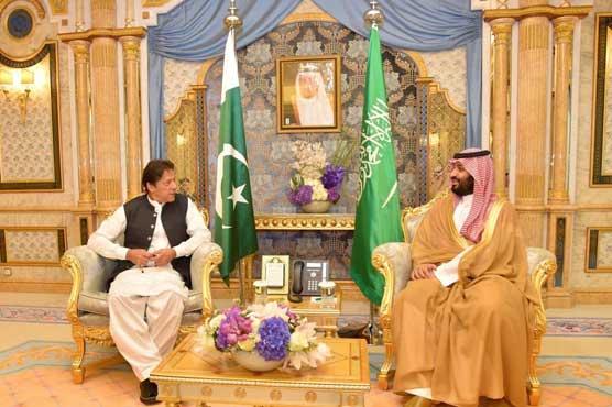 وزیراعظم پاکستان کی سعودی ولی عہد سے ملاقات، کشمیر سمیت اہم معاملات پر گفتگو