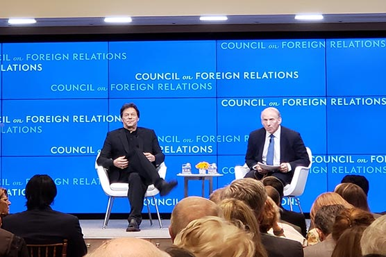 Jumping in US war was biggest mistake: PM Imran addresses Council on Foreign Relations
