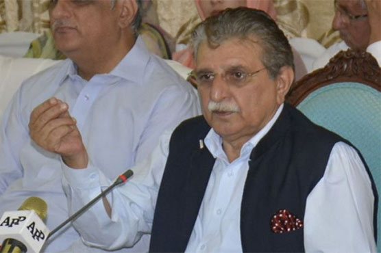 AJK PM Farooq Haider visits earthquake affected areas