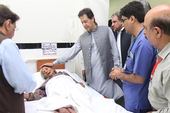 PM Imran arrives in Mirpur, meets earthquake victims