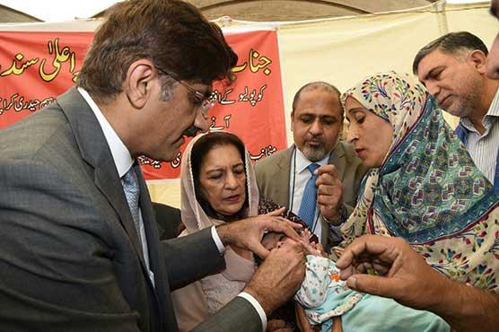 Sindh CM launches anti-polio drive