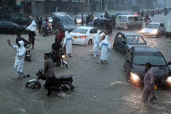 Rescue efforts continue in rain-hit cities of Sindh including Karachi