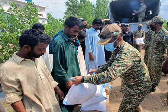 Pakistan Navy's relief operation continues in rain-hit areas
