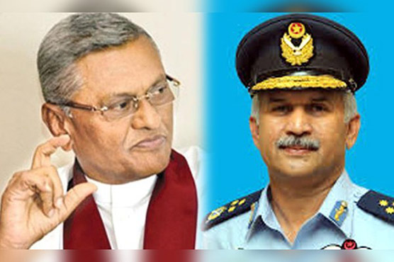 Air Chief Mujahid Khan calls on Sri Lankan defence minister and naval chief