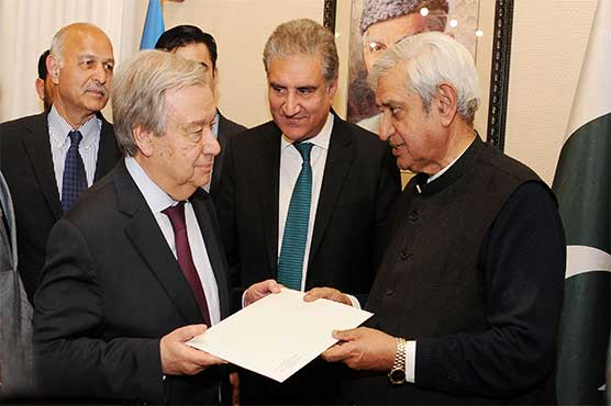 UN chief again offers to mediate Kashmir issue