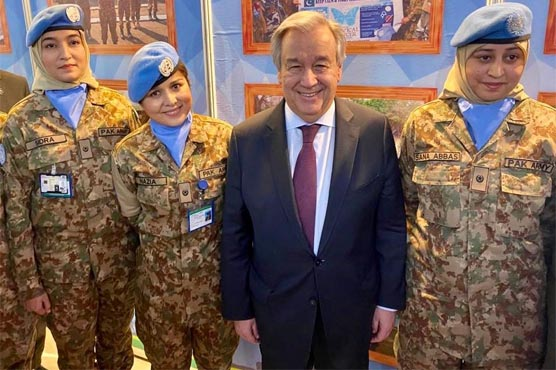 UNSG inspired to meet brave women, men of Pakistan serving for peace