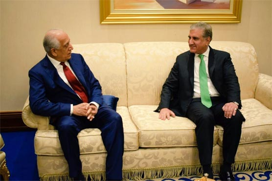 US Envoy Khalilzad, FM Qureshi discuss US-Taliban peace agreement