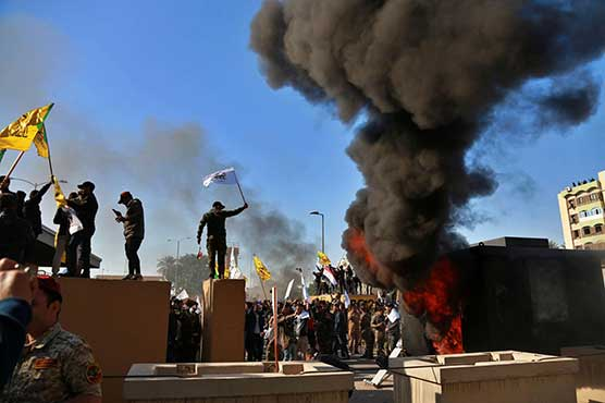 Pro-Iran protesters leave US embassy in Baghdad