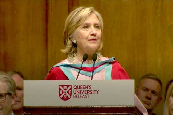 Hillary Clinton named chancellor of Belfast university