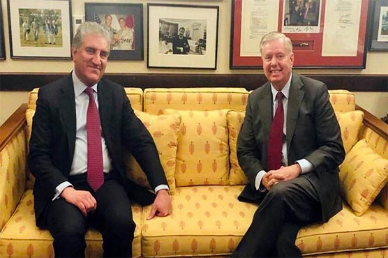 FM Qureshi, Senator Lindsey Graham discuss matters of mutual interest