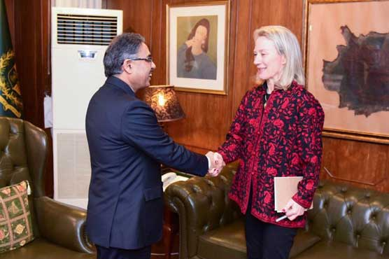 Alice Wells, Foreign Secretary discuss bilateral issues