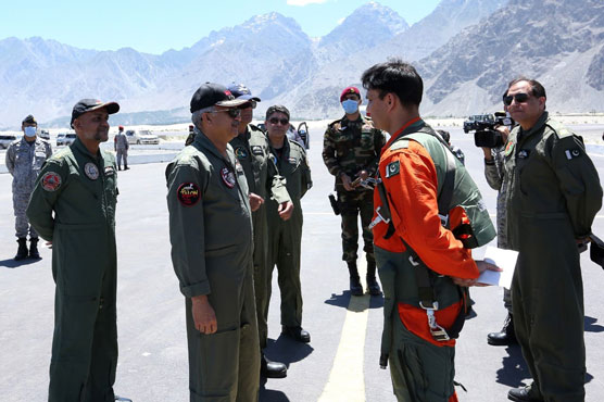 Air Chief witnesses operational exercise at PAF Base Qadri