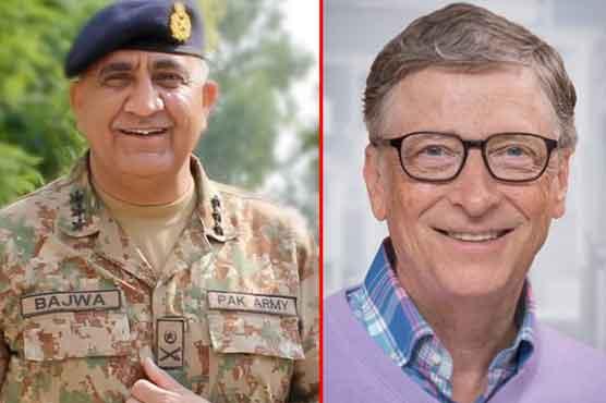 COAS Gen Bajwa, Bill Gates discuss polio eradication drive in Pakistan