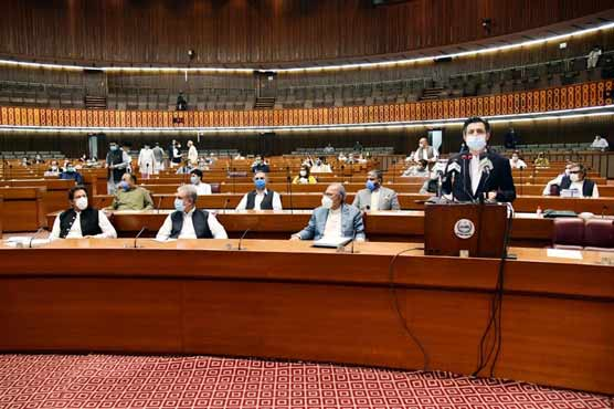 Budget 2020-21 presented in National Assembly, no new taxes imposed