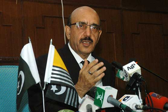 Greater unity vital to liberate Kashmir: AJK president