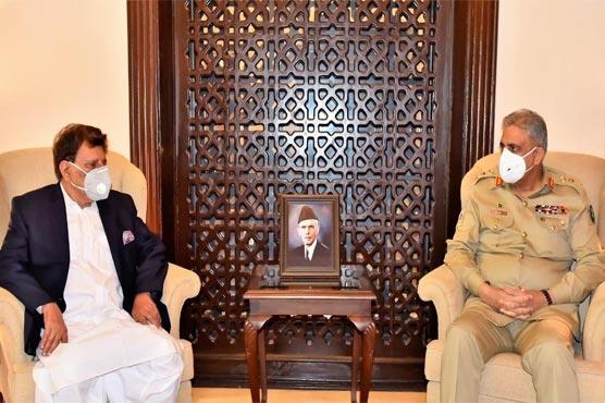 AJK PM Farooq Haider, COAS Bajwa discuss matters of mutual interest: DG ISPR