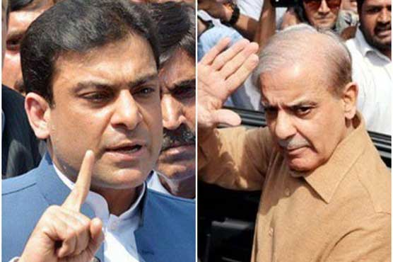 Authorities barred from presenting Shehbaz, Hamza before court in armored car