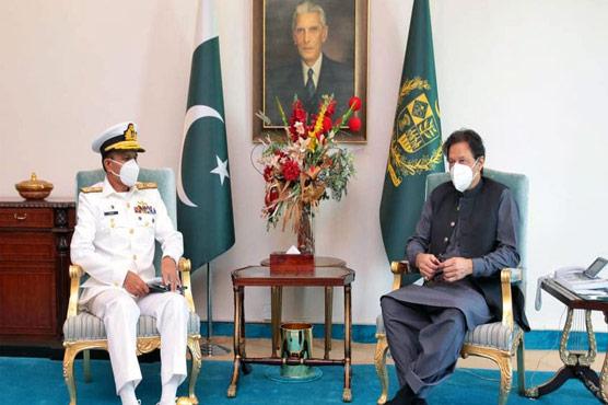PM Imran felicitates Admiral Amjad Niazi on assuming PN command