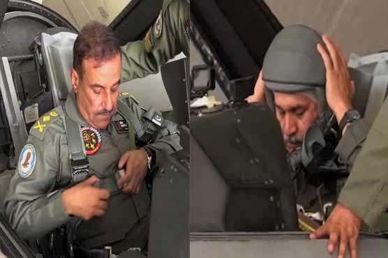 CJCSC General Nadeem Raza visits operational base of Pakistan Air Force